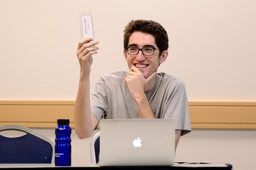 Zachary Graybill, G-SEAS, was elected chairperson pro tempore of the Student Association Senate Monday. Photo by Sam Hardgrove | Photo Editor