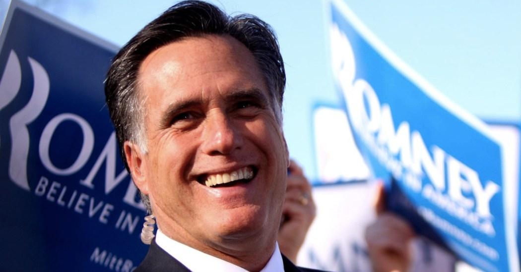 El candidato republicano Mitt Romney en plena campaña