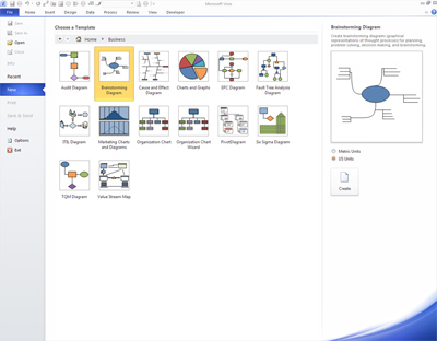 Using a brainstorming diagram in Microsoft Visio 2010 IT News