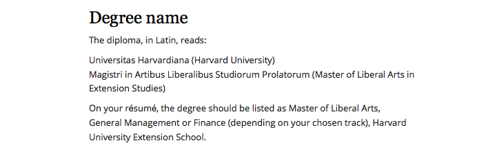 Harvard Extension School résumé guidelines are bogus Ipso Facto - resume degree