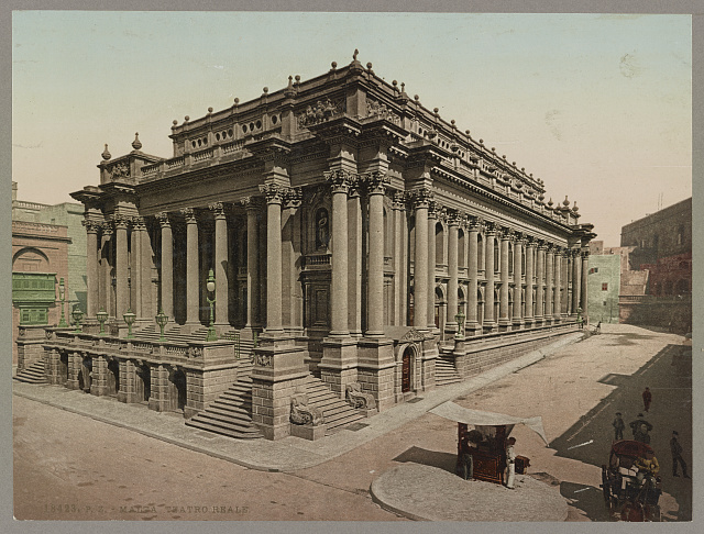 Malta. Teatro Reale. Photochrom by Photoglob Co., between 1890 and 1906. //hdl.loc.gov/loc.pnp/ppmsca.52657