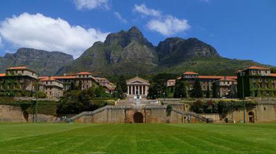 The UCT campus is on the slopes of the Devil's Peak