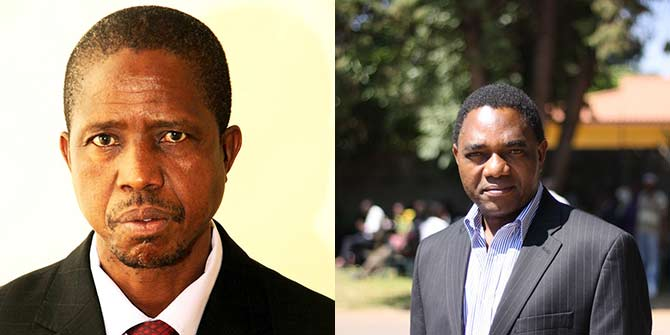 Edgar Lungu and Hakainde Hichilema are frontrunners in the Zambian presidential race