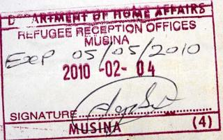 The stamp that means that a person is recognised as an asylum seeker in South Africa  Credit: DFID via Flickr (http://bit.ly/1caSZXc) CC BY-NC-ND 2.0
