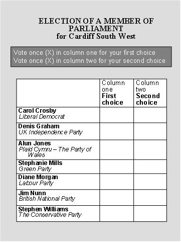 vote form - Fashionstellaconstance