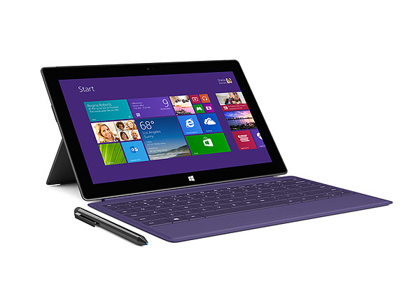 """A tablet so versatile, it's practically a laptop. Surface Pro 2 can run virtually all the programs your family loves, including movies, the Xbox games app, and apps like """"Where's My Mickey,"""" """"Fruit Ninja,"""" """"Angry Birds Star Wars,"""" """"Temple Run: Brave"""" and """"Bejeweled LIVE"""" on its stunning HD display. When playtime is over, fire up Microsoft Office and click in the fully functioning keyboard to get homework done. Microsoft Office and keyboard sold separately. Starting at $899."""