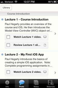 iTunes U Course screenshot