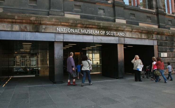 Main entrance to the National Museum of Scotland.