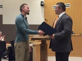 Jon Black Accepts Award