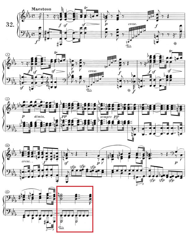 Beethoven op. 111 - 1. Satz - Takt 15