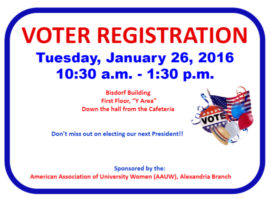 Voter Registration Drive - January 26 (Announcement in your Campus Newsletter)