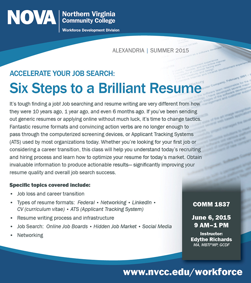 6 Steps to a Brilliant Resume