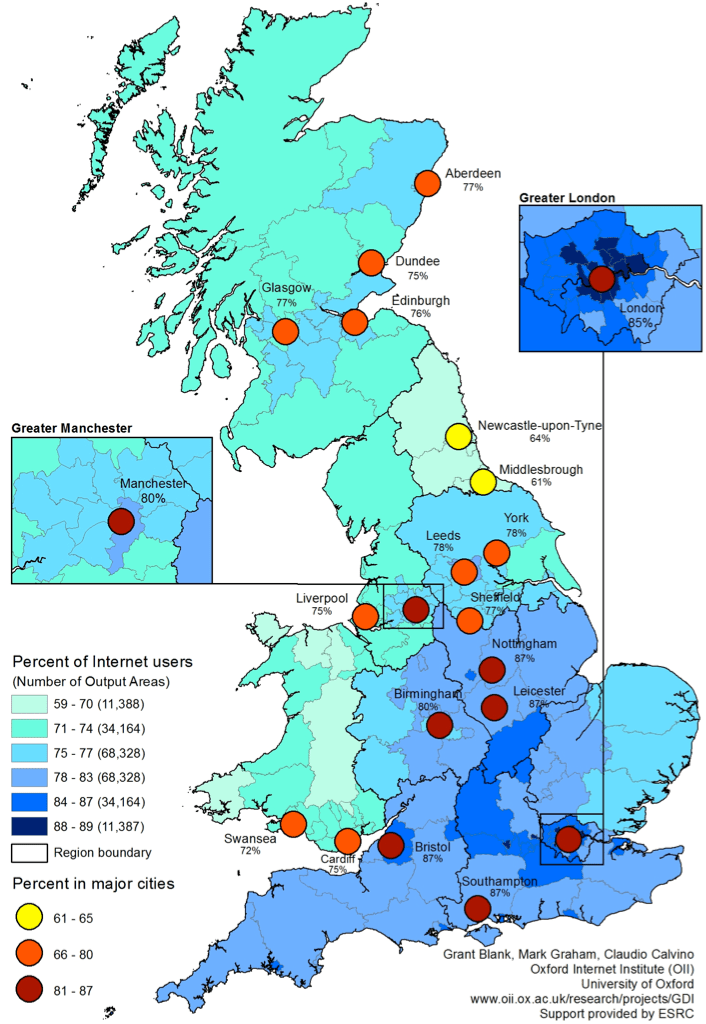 Mapping the Local Geographies of Digital Inequality in Britain