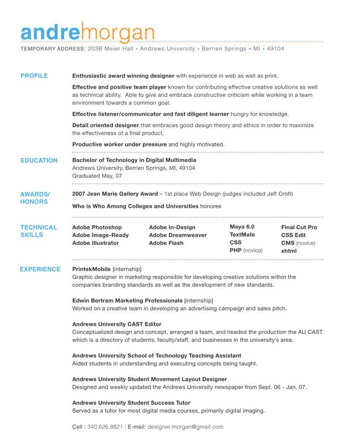 Giving Your Resume Visual Appeal - The Career Development Center Blog
