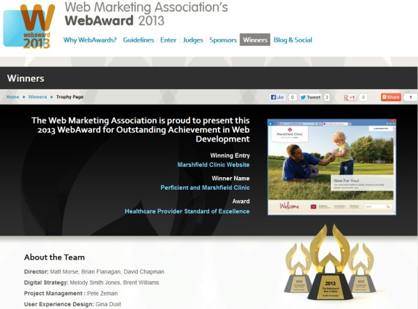 Marshfield clinic webaward site