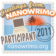 Image of the participant badge for NaNoWriMo 2011