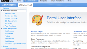 Portal Administration Page image