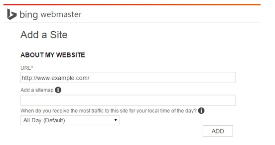 Step 3 Bing Webmaster Tools Verification