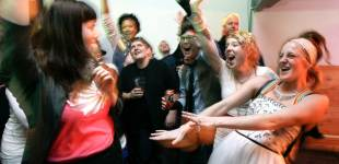 Same-sex marriage supporters celebrate a historic victory