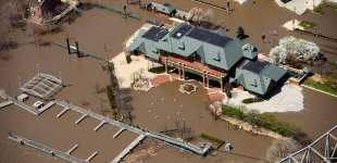 Peoria Flood from the Air