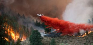 Wildfires tear through Idaho countryside