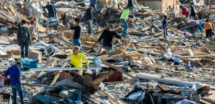 GROUND WAR: Washington digs out after tornado
