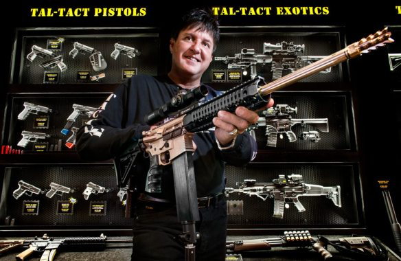 FRED ZWICKY/JOURNAL STAR Scott Tallyn's new business venture, Tallyn's Tactical Solutions at 1609 W. Detweiller Drive, offers custom builds of tactical weapons modeled after his own collection. Tallyn says that one of his hobbies has been modifying tactical gear ever since he served nine years in the Army.