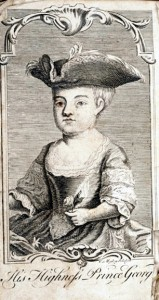 Moseley's frontispiece of the future George III.