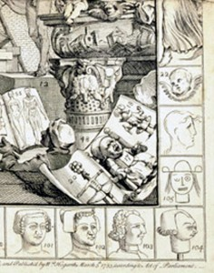 """Hogarth's homage to children's """"art"""" on The Analysis of Beauty"""