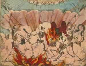 battling skeletons