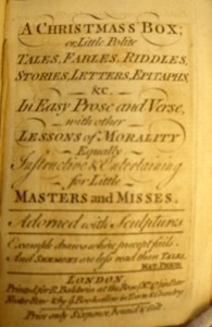 Title page of a Christmas Box (R. Baldwin, [after 1754] (Cotsen new acquisition)