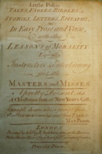 Title page of Little Polite Tales, R. Baldwin, Jr, ([between 1751 & 1754?]) (Cotsen new acquisition)