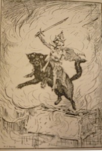 "Ford's ""Spanish cat"" from the ""Yellow Dwarf"" (Blue Fairy Book, p. 40)"