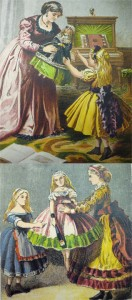 Frontispiece ill. depicts Violet as a doll handed over to Fanny, and last ill. returns Violet to an inanimate state as Fanny the now-mature Fanny passes her along.