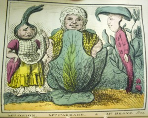 Some members of the Kitchen Garden, pictured as distinctly working class.