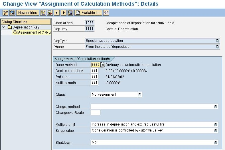 Different Methods of Depreciation Calculation SAP Blogs