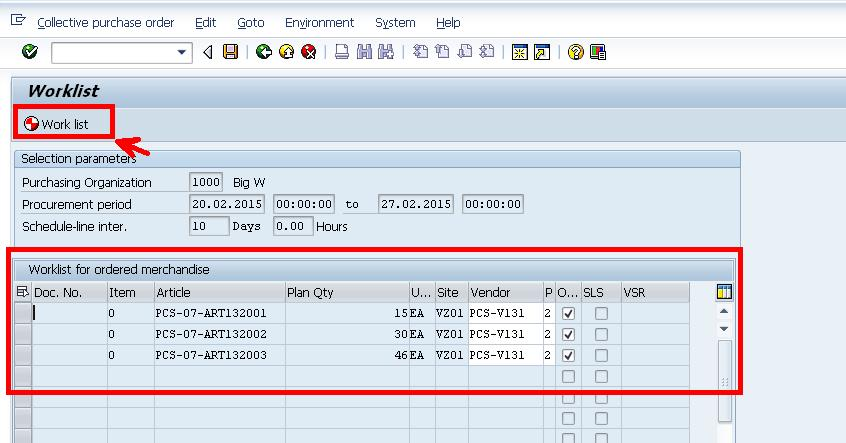 Creation Of Collective Purchase Order SAP Blogs