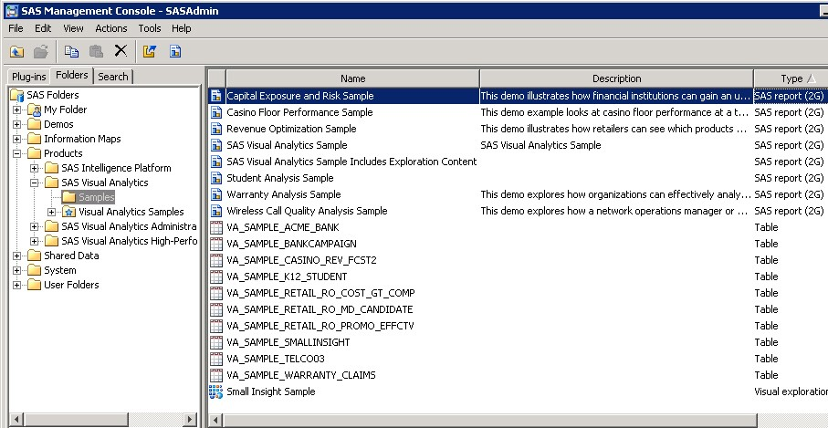 Sample Reports in SAS Visual Analytics 73 - SAS Users - sample reports