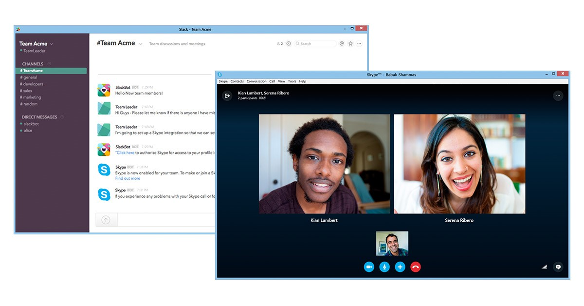 Skype integration for Slack now available for preview Skype Blogs