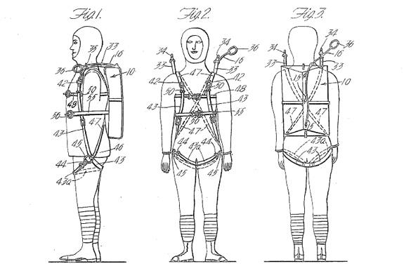 harnesses diagram of skydiving