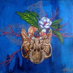 Cranial Bloom, painting by Michelle Anderst