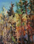 High Country Trees, oil by Silvia Trujillo