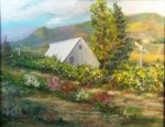Edenvale Winery, Pastel Painting by Norm Rossignol