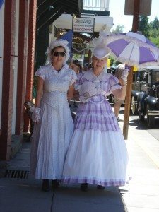 As always when Jacksonville hosts a citywide event, gussied up ladies are seen strolling around in their finery.
