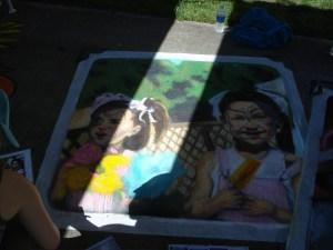 Taylor's finished chalk art