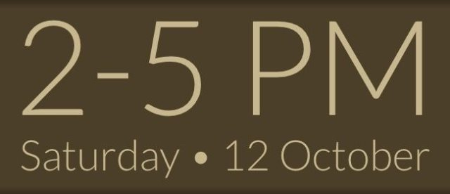 12 October, 2013, 2-5 pm