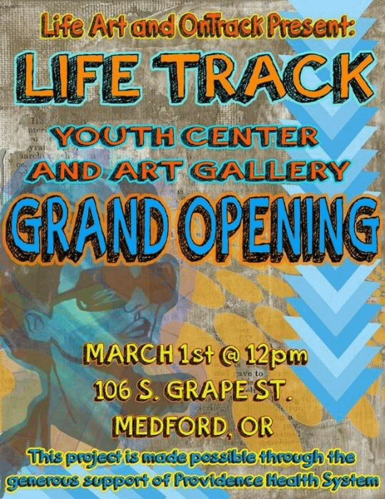 LifeTrack Youth Center and Art Gallery March 1 2014 Grand Opening Announcement