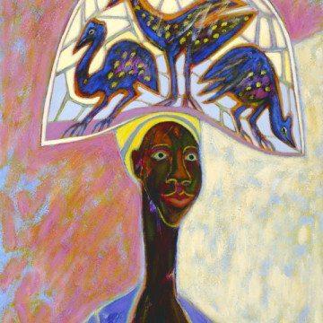 MALI MARKET DAY painting by Eve Betty LaDuke
