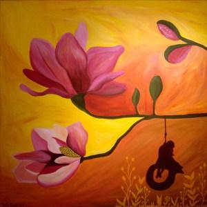 Painting by Nicole Paradis