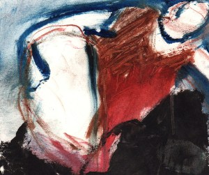 "Artist Image from the retrospective show To Paint is to Love Again: Untitled Study, 4"" x 5"" (1995), by Anna Elkins"